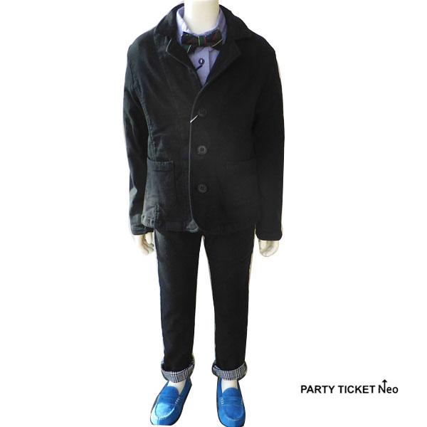 【30%OFFセール】PARTY TICKET(パーティーチケット)ムジ 2重織 テーラードJK,スキニーパンツ SET (110-120cm) 入学 卒業式 子供服 男の子 テーラードジャケット フォーマルスーツ 男の子