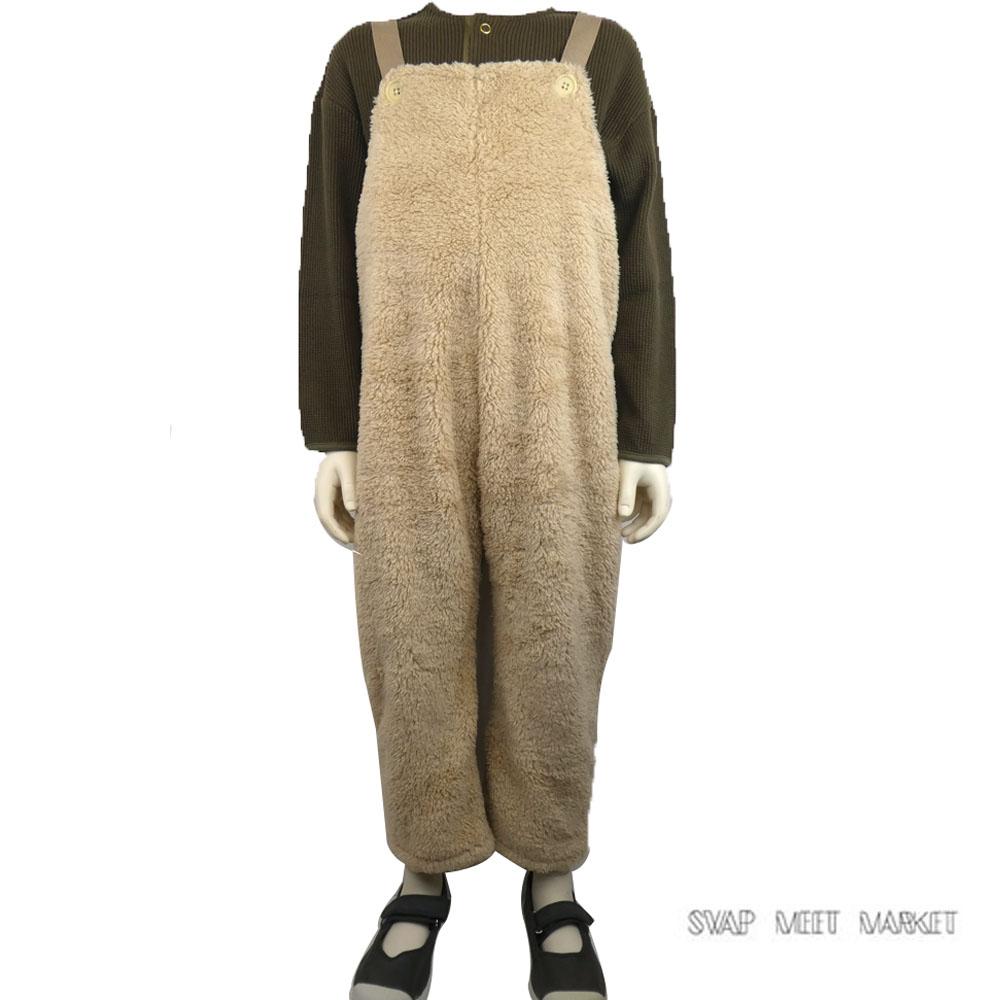 SWAP MEET MARKET(スワップミートマーケット) ウォーム 9分丈サロペット (90-130) ボアフリース サロペット おしゃれ キッズ 女の子 かわいい 子供服