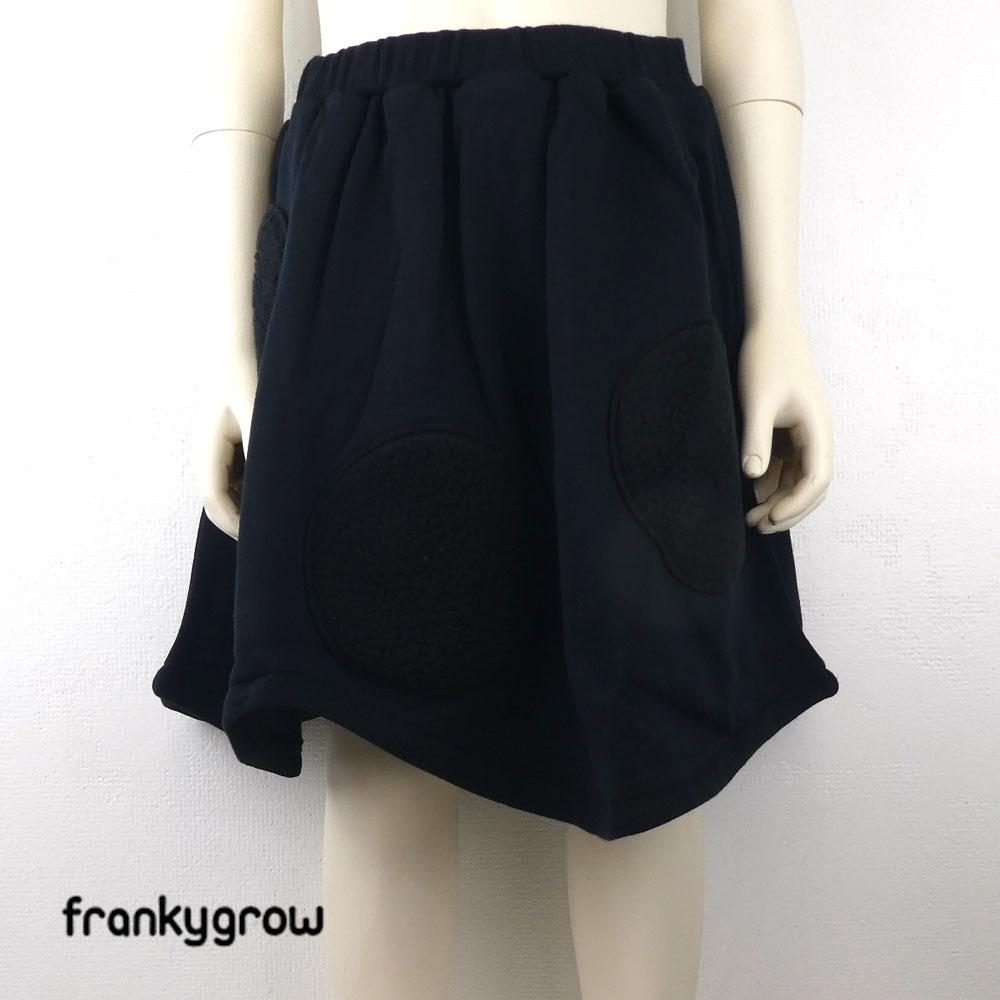 FRANKY GROW ( フランキーグロウ) UNEVEN BOA DOTS SWEAT SKIRT スカート (90-130cm) 子供服 女の子 キッズ おしゃれ