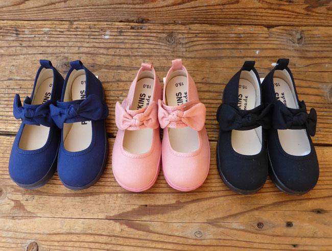 POMPKINS ポプキンズ レインブーツ リボンがかわいい靴 送料無料 13-19 入学式 こだわりの日本製 おしゃれ キッズ 爆買い送料無料 女の子 割り引き リボン キッズスニーカー 黒 ピンク かわいい 靴 13-21 リボンベルトシューズ 日本製 子供