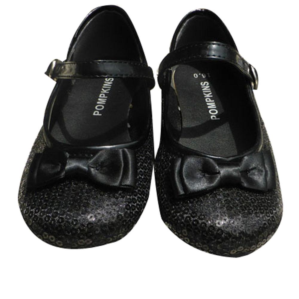 POMPKINS ポプキンズ ストラップ シューズ 15-21 キッズスニーカー 新色追加 フォーマル 入学式 誕生日プレゼント 黒 子供 かわいい 女の子 靴
