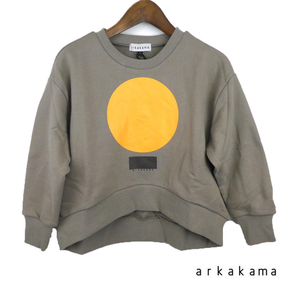 arkakama (アルカカマ)marushikaku ROUND Sweatshirt (XL-XXL) スウェット 長袖 子供服 男の子 女の子 おしゃれ