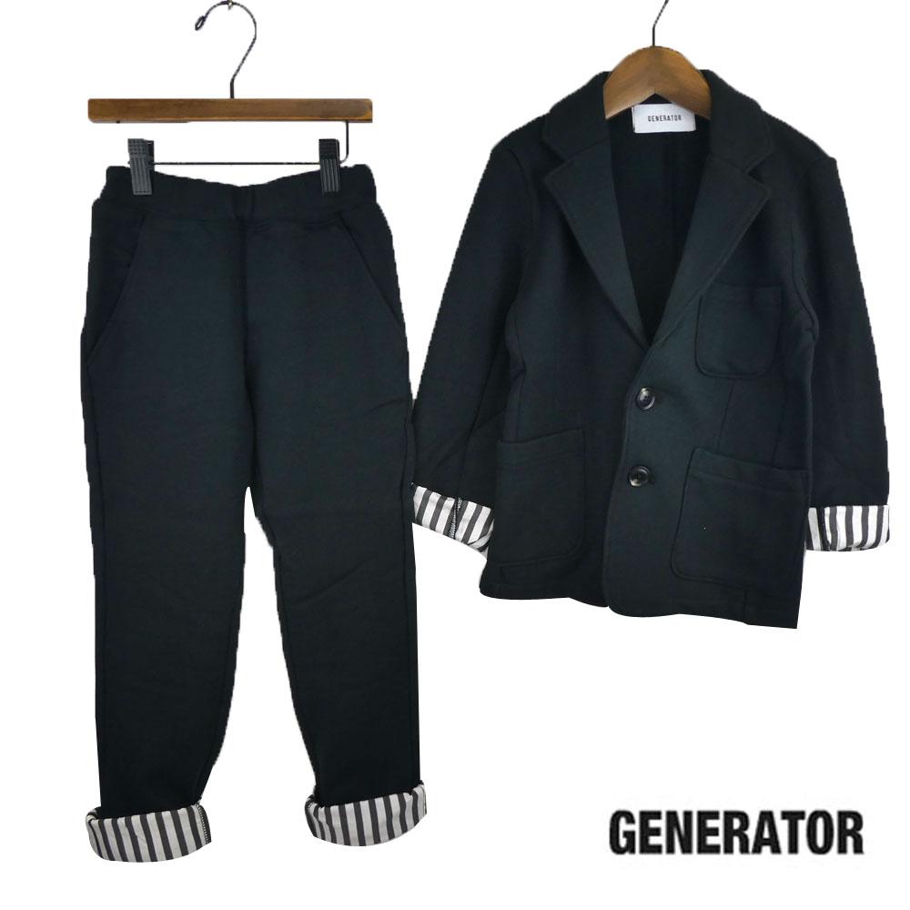 GENERATOR (ジェネレーター) カットソー2BテーラードJK&イージースラックス セット(120-130)スーツ ジャケット&パンツセット 入学式 卒業式 子供服 男の子 おしゃれ