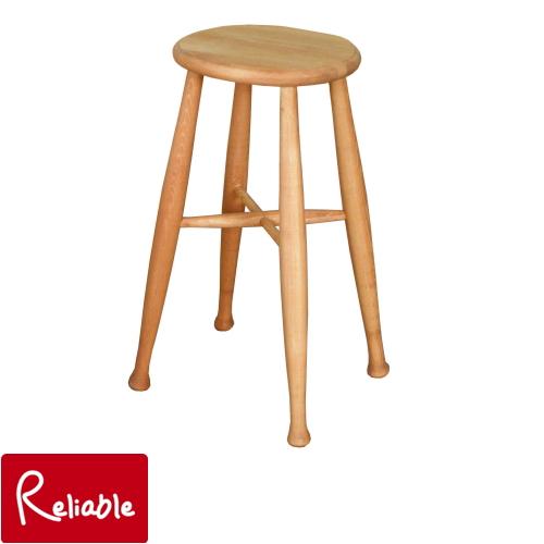 ハイ スツール High Stool A005 チェア 椅子 家族 ダイニング アイロスジャパン パイン材 ナチュラル 無垢パイン アンティーク カントリー インテリア アメ色 長く使える 塗装 Airos Japan 可愛い