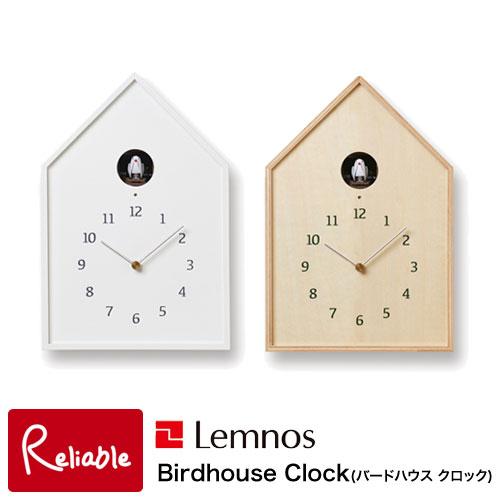 10 18 9:59まで ポイント10倍 レムノス 掛け時計 時計 置き時計 クロック ウォールクロック 北欧 新築祝い おしゃれ シンプル 直送商品 内祝い Lemnos お気にいる Birdhouse カッコー 70 NT Clock ナチュラル バード バードハウス デザイナーズ時計 鳥 NY16-12WH ホワイト NY16-12 鳩時計 Y かっこう タカタレムノス
