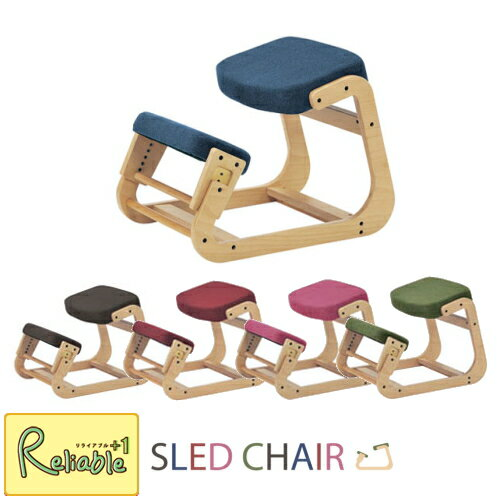 SLED CHAIR 01 スレッドチェア-1(スレッドワン) 【 SLED-1 BR BL RD PK GN 】 学習チェア 弘益 【S/156】