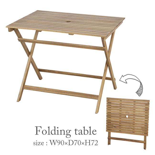 W90cm 折りたたみテーブル 木製テーブル 爆買い新作 木製机 爆安プライス 木製 テーブル バルコニー アカシア材 ガーデン家具 ガーデンファニチャー テラス