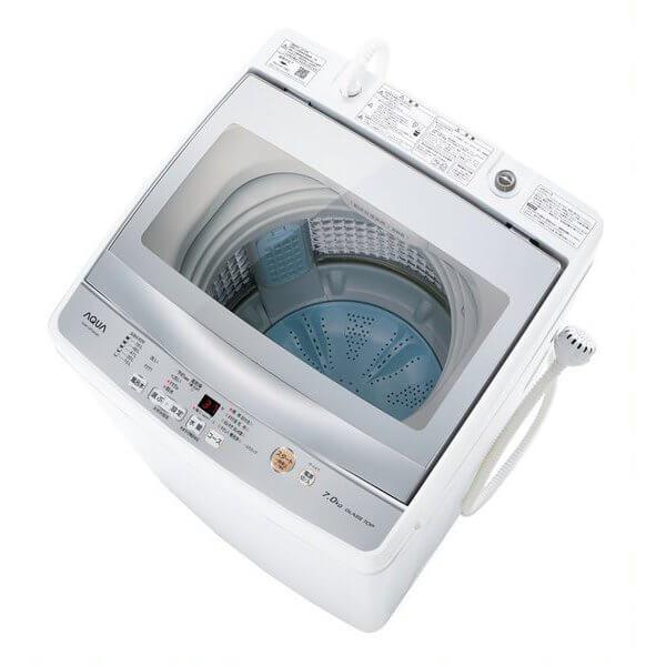 AQUA アクア 簡易乾燥機能付き洗濯機 7.0kg AQW-GP70H AQWGP70H家電 洗濯機 全自動洗濯機 ホワイト