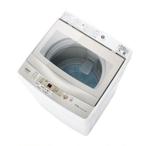 AQUA アクア 簡易乾燥機能付き洗濯機 5.0kg AQW-GS50H AQWGS50H家電 洗濯機 全自動洗濯機 ホワイト