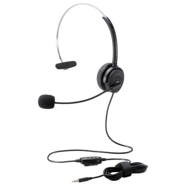 日本全国 送料無料 エレコム ELECOM 新作からSALEアイテム等お得な商品 満載 オーバーヘッド 片耳 4極 変換ケーブル付 30mmドライバ PC用ヘッドセット ヘッドホン HSHP29T オーディオ AV機器 ブラック HS-HP29T