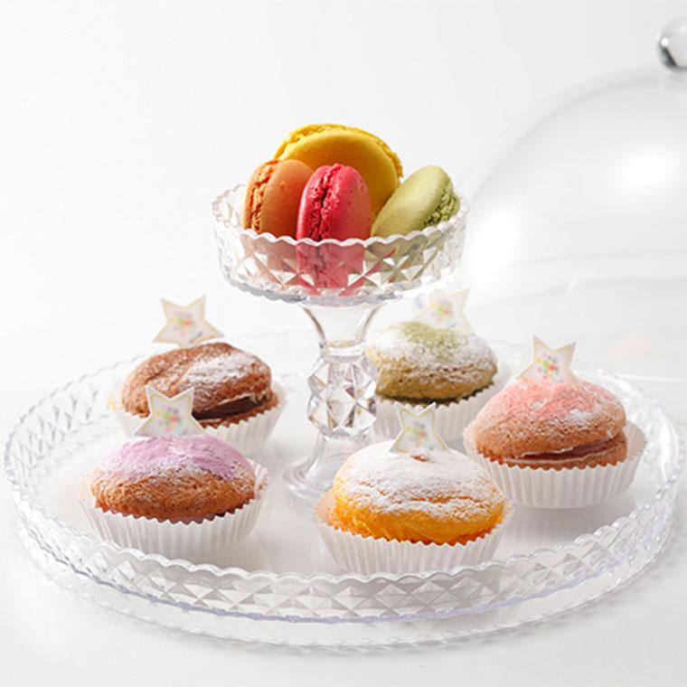 ケーキドームにもトレーにもなる2WAYタイプ uca 限定品 セール ケーキドーム リッチ 4582106479943 保護 ケーキトレー パーティー ケーキスタンド カバー
