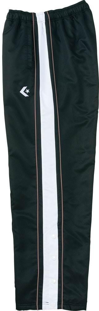 コンバース バスケットボールウェアウォームアップパンツ裾ボタン メンズ レディース ブラック/チャコール con-cb112501p-1918 CONVERSE