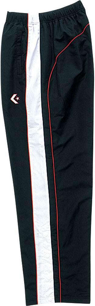 コンバース メンズ レディース バスケットボールウェア ウォームアップパンツ 裾ボタン CB14112Pブラツク/ホワイト con-cb14112p-1911 CONVERSE