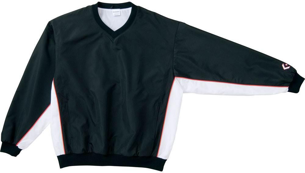 コンバース Vネックウォームアップジャケットブラック/ホワイト con-cb19112s-1911 CONVERSE