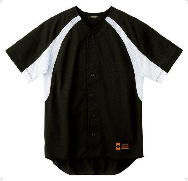 デサント(DESCENTE)ユニフォームシャツカラーコンビネーションブラック×Sホワイト(ds-db48m-bksw)