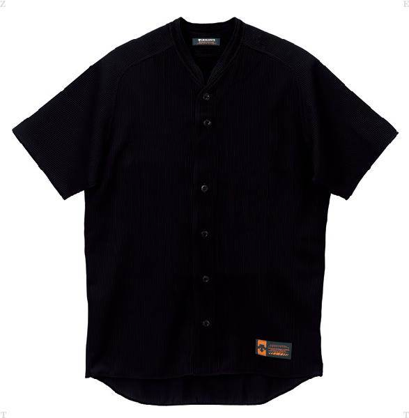 デサント(DESCENTE)立襟フルオープンシャツプロモデル(ルーズシルエット)ブラック(ds-db55m-blk)