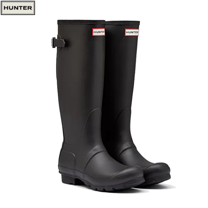 ハンター レインブーツ レディース 長靴 雨靴 バック アジャスタブル ブーツ HUNTER ORIGINAL BACK ADJUSTABLE WFT1001RMA