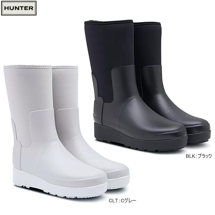 ハンター HUNTER レインブーツ レディース 防水 長靴 リファインド クリーパー ネオ ショート HUNTER WWFS2061NRE