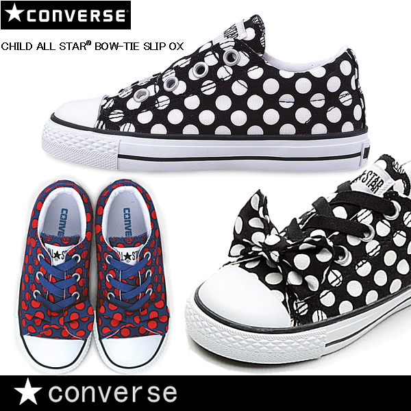 7830be6be4 Converse all-stars kids ribbon CONVERSE CHILD ALL STAR BOW-TIE SLIP OX  sneakers ...