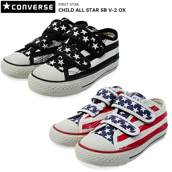 e2a664360fc3 Child of the Converse all-stars low-frequency cut kids child CONVERSE CHILD ALL  STAR SB V-2 OX sneakers star   Byrds Velcro youth child shoes boy woman