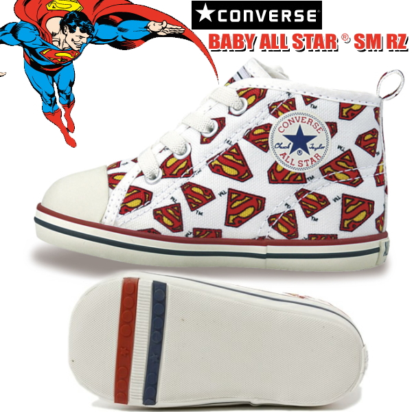 1132ba227e00 Converse all star Superman sneakers baby kids CONVERSE BABY ALL STAR SM RZ  baby or star DC Comics collaboration baby shoes children shoes boys boys  girls-