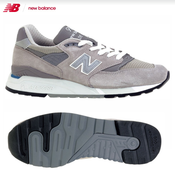 new balance 998 gray zr2g  New balance 998 New Balance M998 [GY] gray sneakers mens men's newbalance  usa