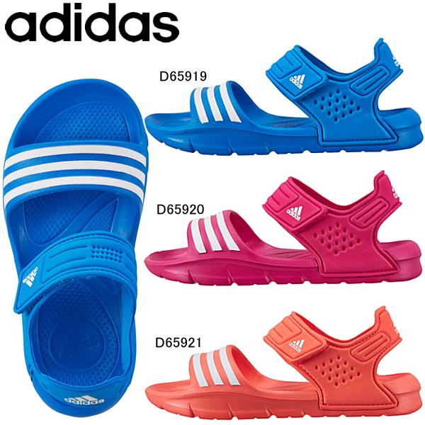 るkids sandal D65919/D65920/作为小阿迪达斯拖鞋小孩椰子拖鞋adidas Akwah 8 K一锄头小孩男孩子女孩水陆两用户外的D65921●