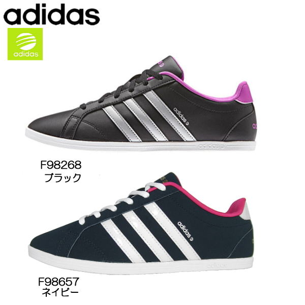 Adidas adidas CONEO QT [F98657, F98268] Adidas CO neo-QT Lady's sneakers  black