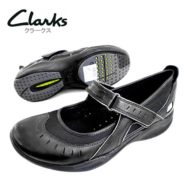 -皮革 [黑色] 723D ClarksWAVE 回声酒吧-ladiesstrapcasual 鞋