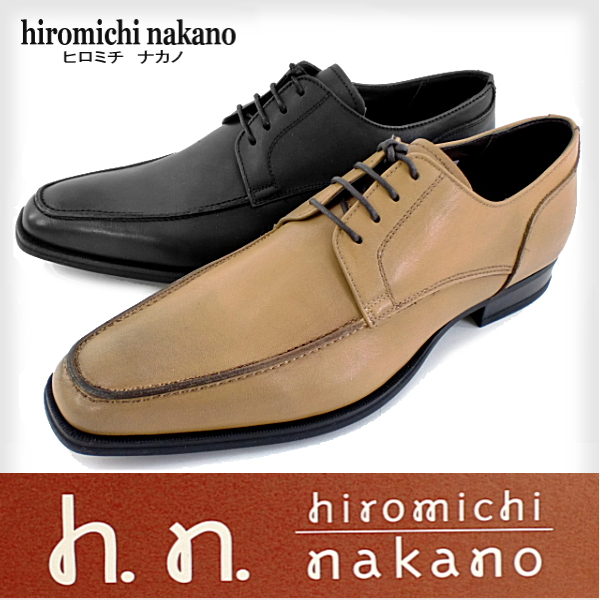 hiromichi nakano 310HAEJ本革・Uチップ・メンズビジネスシューズ 黒