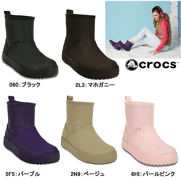 8104b89fc264 The crocs ColorLite boot w 16210 water-resistant women boots Crocs Cola  light material and BOA material liner in warm boots Womens-