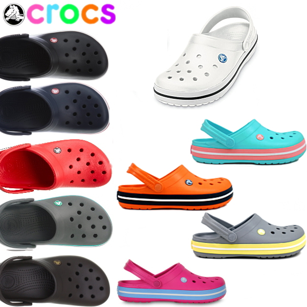 2771d614884dd3 Crocs Womens mens clock band crocs crocband 11016 lightweight sandal clog  ladies women men s black I giggle