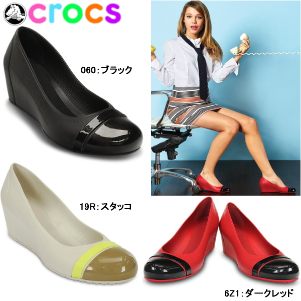 98cf967bcffc42 Crocs women s pumps CAP to wedge crocs cap toe wedge 12299 leg effect  beautiful legs effect wedge shoes shoes conservative-
