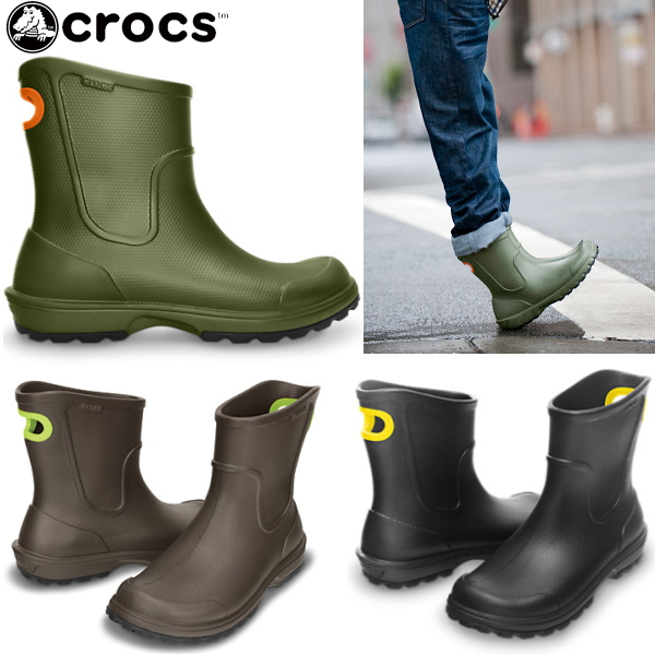 Crocs men's head shoes boots werry rain boots crocs wellie rain boot 12602 black was already Christmas stocking shoes men's boots-fs04gm