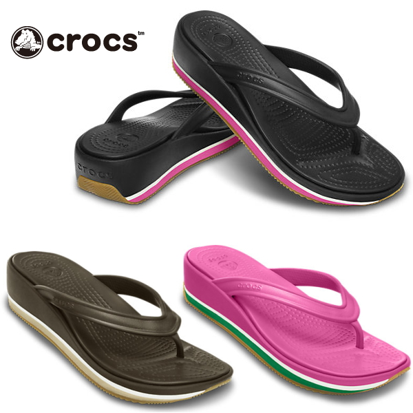 054ef24733d0 Crocs women s Sandals retro flip wedge women crocs retro flip wedge w 14120 women s  flip flops thong lightweight black was giggle-fs04gm