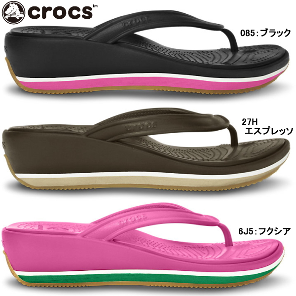 b75ee68eb Crocs women s Sandals retro flip wedge women crocs retro flip wedge w 14120  women s flip flops thong lightweight black was giggle-fs04gm