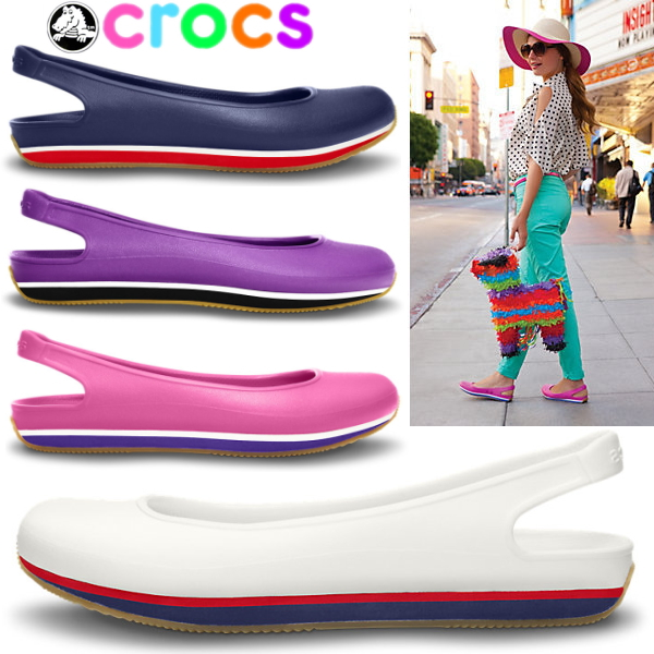 Crocs women s Sandals retro Slingbacks flat Womens crocs retro slingback  flat w 14126 women s lightweight flat shoes black was already pumps pumps  women s-