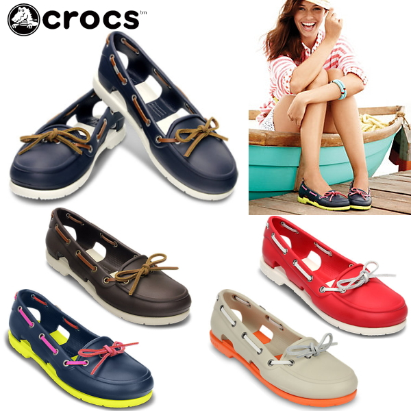 Crocs Women S Sandals Beach Boat Shoe Womens Line W 14261 Lightweight Deck Shoes Black I Giggle Sandal