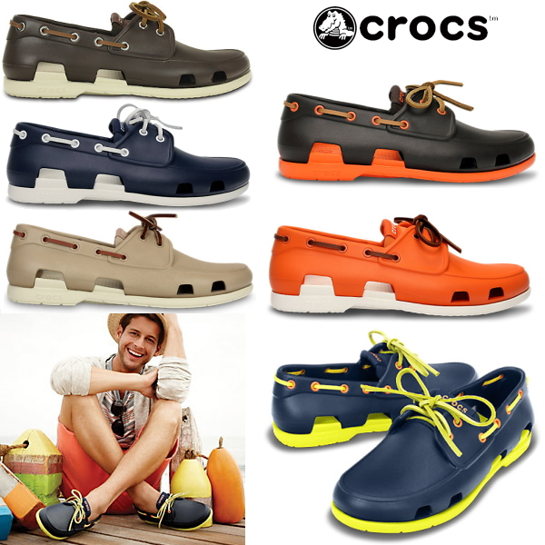 8131995e39794 Crocs men s Sandals beach boat shoe men crocs beach line boat shoe men  14327 men s lightweight deck shoes shoes-