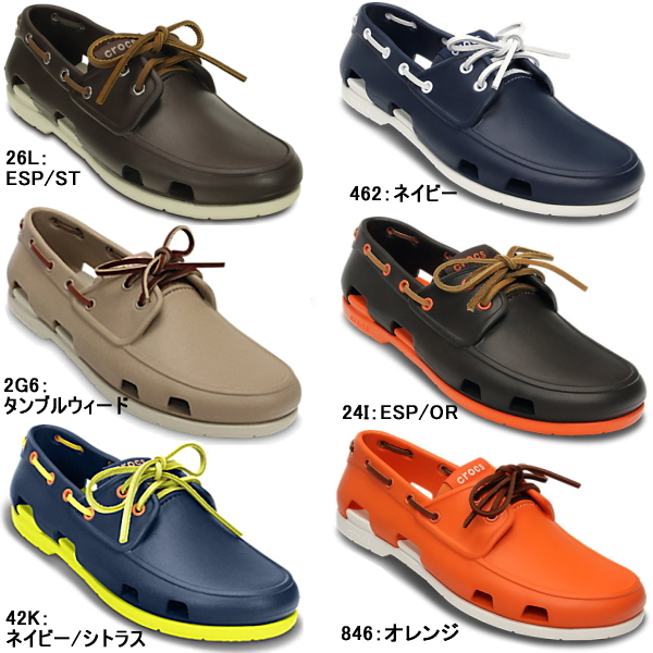 14b420482 Crocs men s Sandals beach boat shoe men crocs beach line boat shoe men  14327 men s lightweight deck shoes shoes-