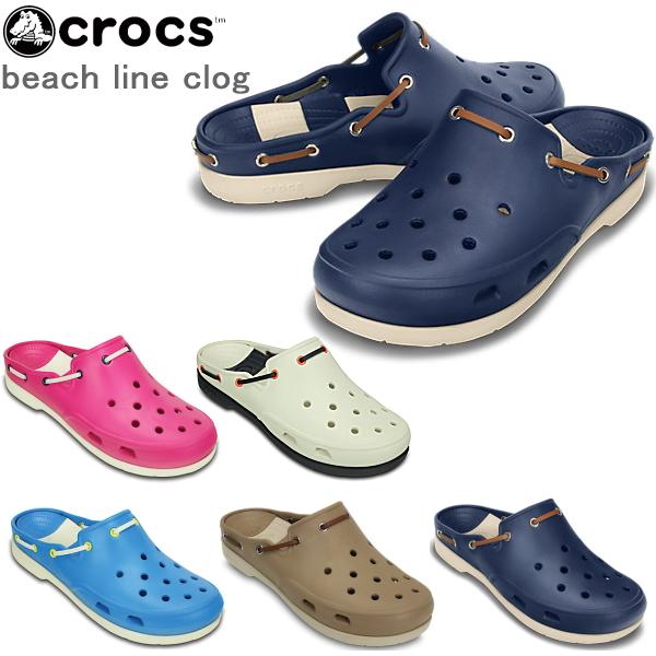 d5c602711 Crocs Womens mens Beach clog crocs beach line clog 15334 lightweight  Sandals for women for men-