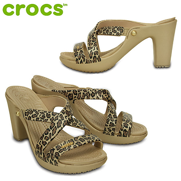 Leopard High Heels Sandals With Lace