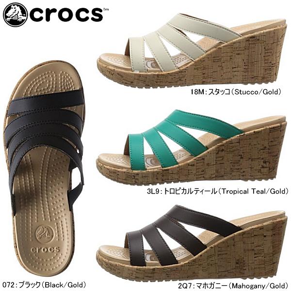 クロックス crocs アレイ シンセティック サンダル ウェッジ [200751] a-leigh synthetic wedge w レディース  黒:スニーカー・靴激安通販  Reload
