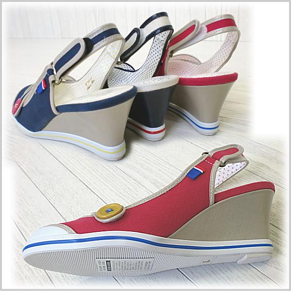 Airsports Sandals Women's wedge sole ELLE SPORT ESP10508 roundtubackstrapladies casual heel wedge sandal wedge-