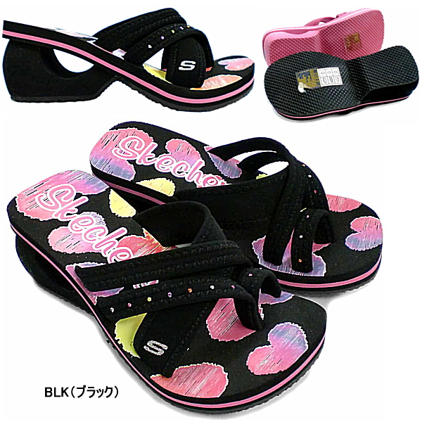 girls skechers flip flops