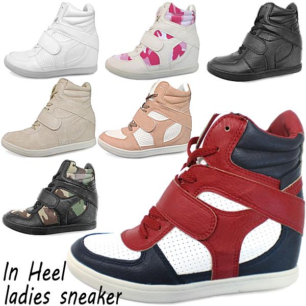 在她的球鞋女性脂肪高切在鞋跟高帮高切运动鞋花边脚跟鞋底部腿效果-