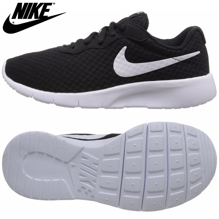 biggest discount new design factory price Nike tongue Jun Lady's sneakers running shoes black and white NIKE TANJUN  GS 818,381-011
