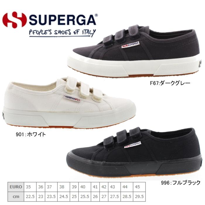 Superga sneakers Superga 2750-COT3VELU low-cut canvas Velcro superga  Superga men's women's shoes shoes-