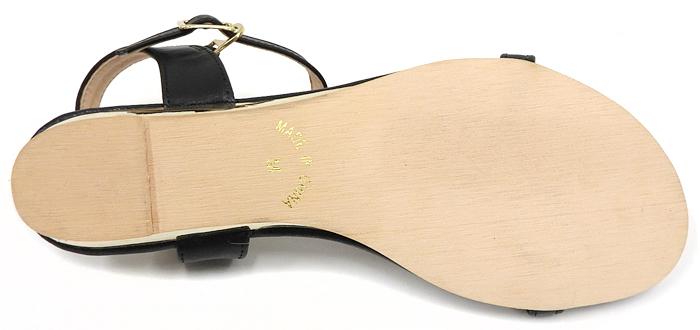 ストラップ付きフラットサンダル ゴールド 1.8cmローヒール レディース 靴 夏 キレイ系 美脚 ネックストラップ ウェッジソール クッションインソール 快適 楽ちん 小さいサイズ【ME】【SANDALS】:Re