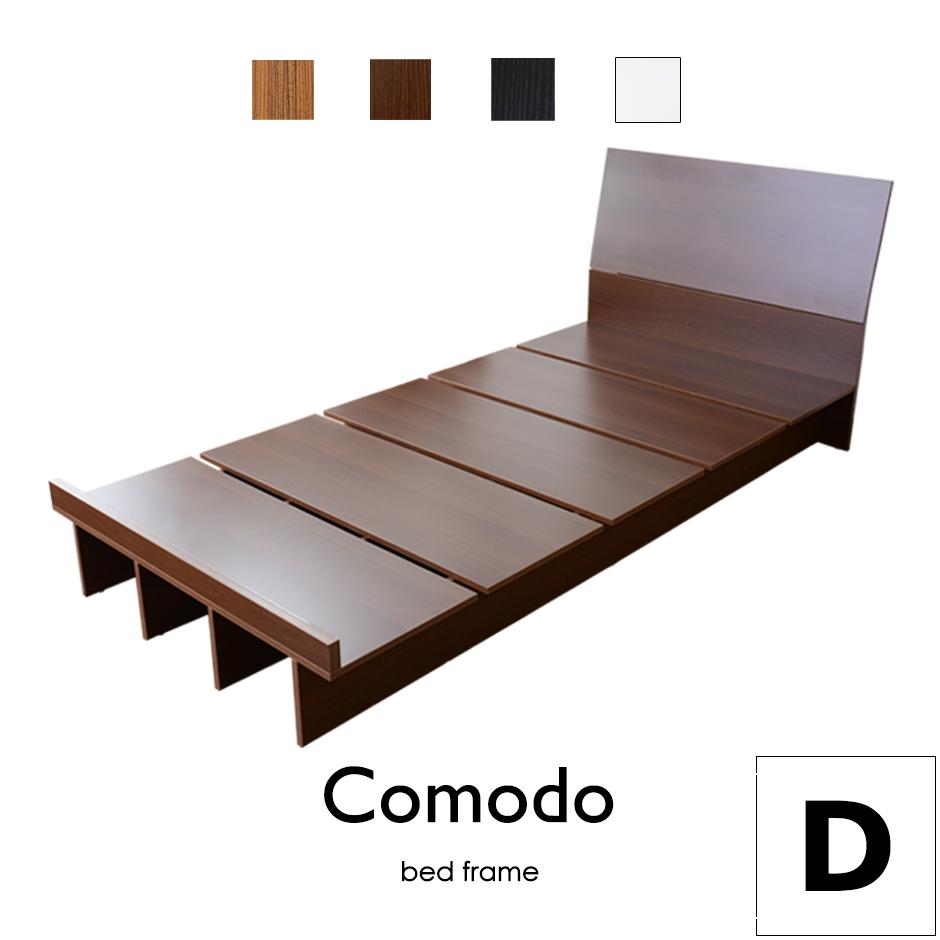 【送料無料】ベッド ローベッド フロアベッド ダブルサイズ すのこベッド フロアベッド ベッドフレーム ダブルサイズ ダブル 【コモドD】【KIC】【ドリス】